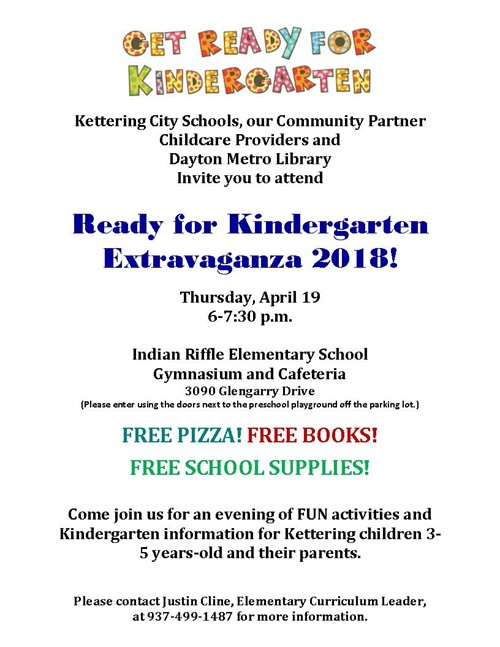 Get Ready for Kindergarten Extravaganza! Set for April 19