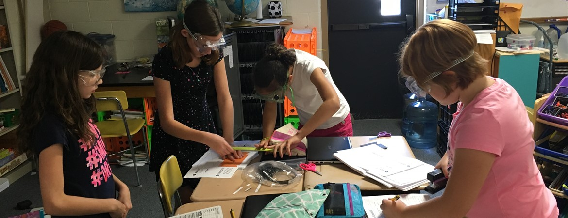 We learn science concepts through hands-on activities!