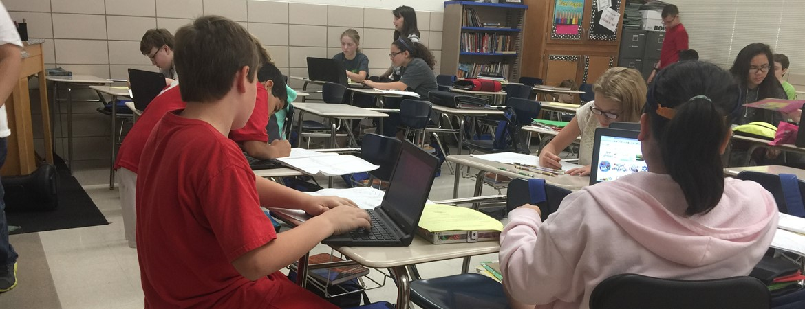 KMS Classroom utilizing Chromebooks