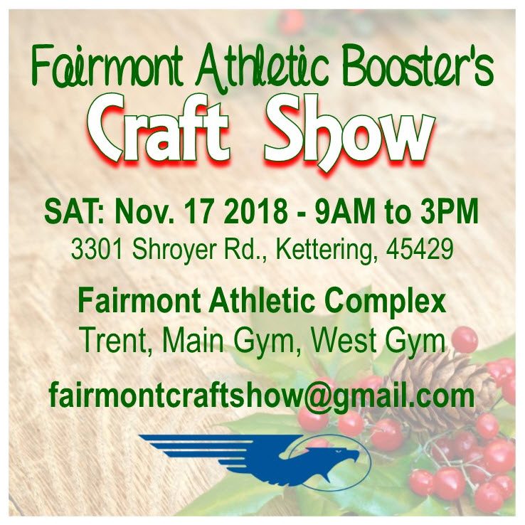 Athletic Boosters Craft Show -- November 17 from 9 a.m. to 3 p.m.