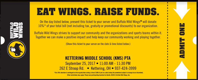 BW3 Dining for Dollars