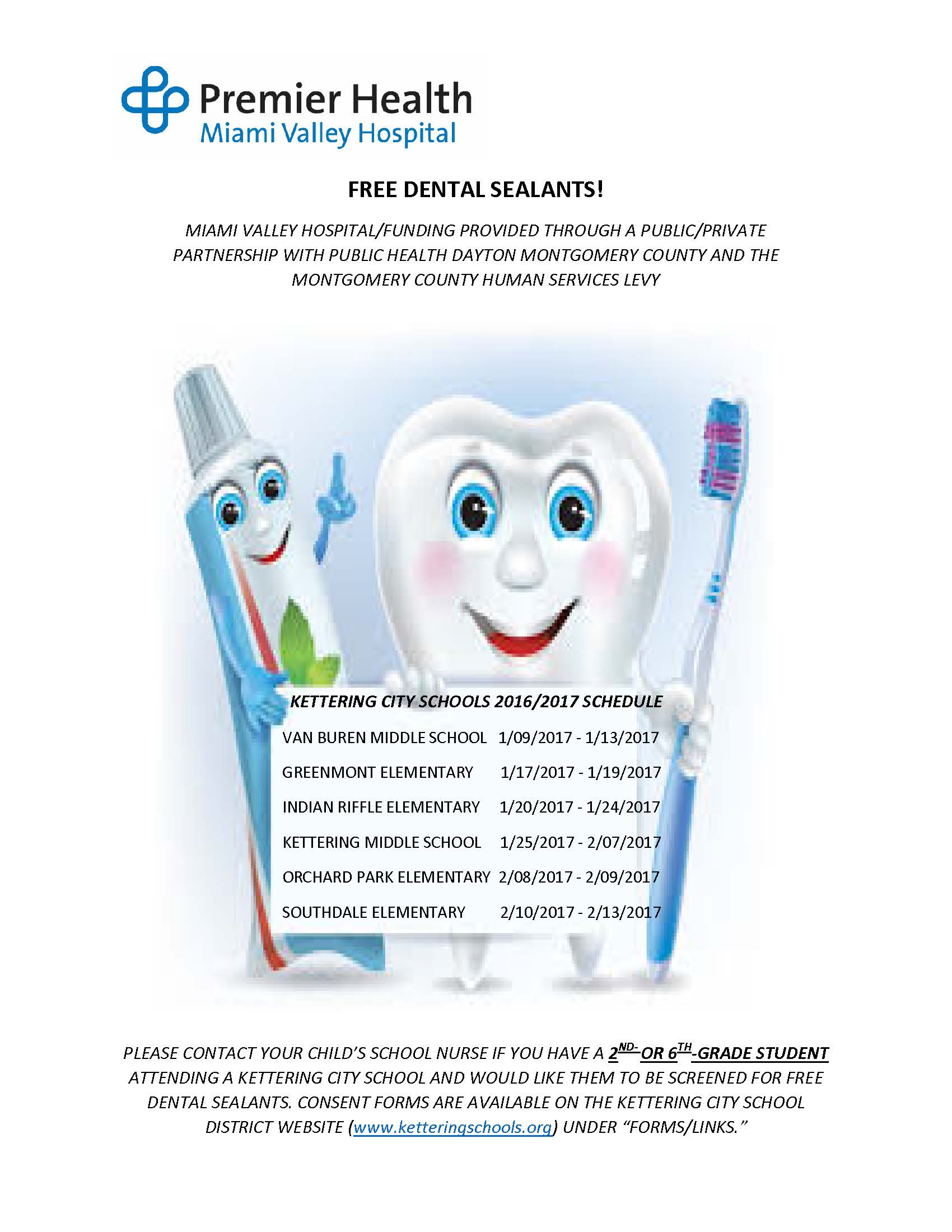 Free Dental Sealants Available for KCS Students