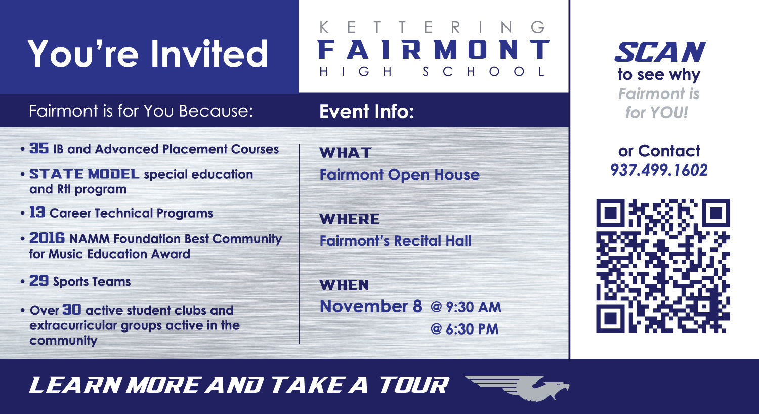 Prospective Student Open House -- November 8, 9:30 a.m. and 6:30 p.m.
