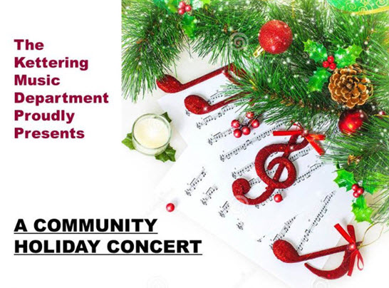 Community Holiday Concert --  December 12 -- 7 p.m.  --  Trent Arena