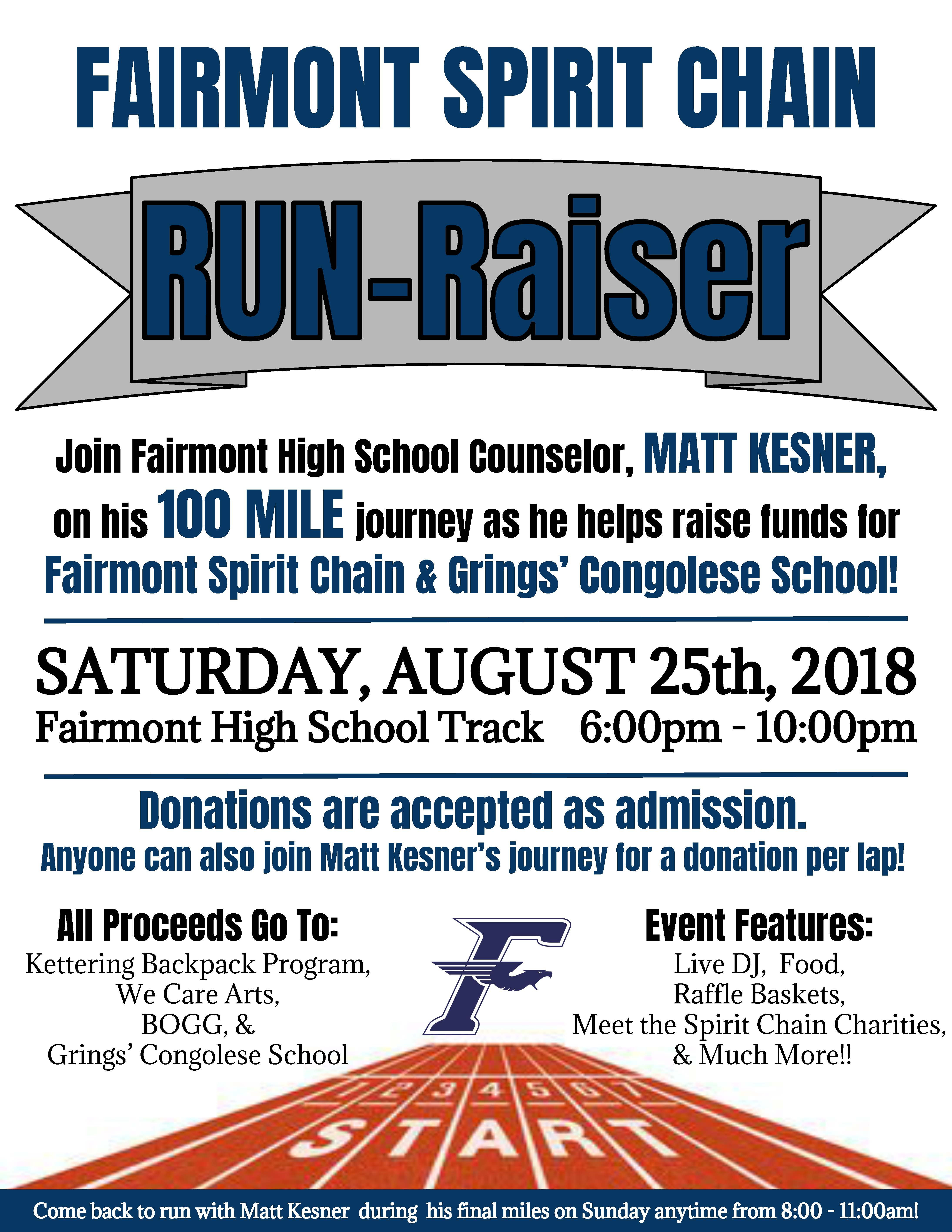 Run-Raiser -- August 25 and 26