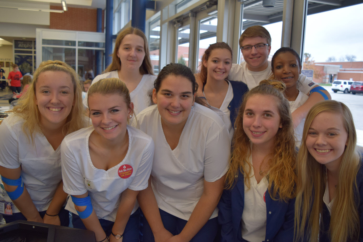 Allied Health Students Volunteered at the school's Unity Blood Drive in November