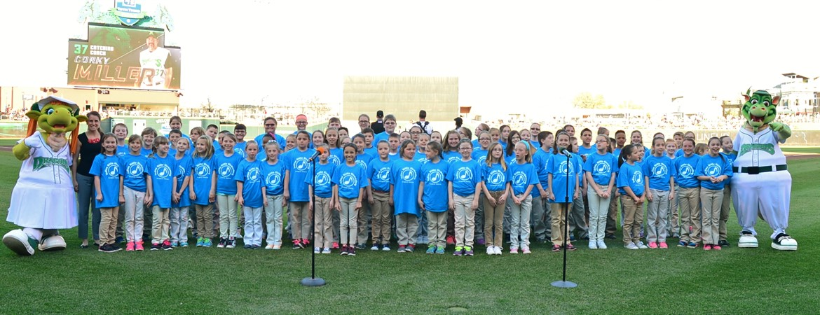 Indian Riffle's Firebird Chorus Sings at the Dayton Dragons' Game