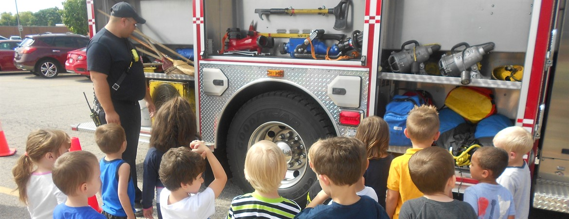 Preschoolers Get a Visit From the Kettering Fire Department