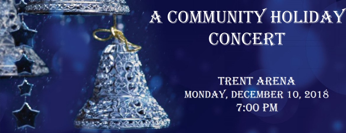 The community is invited to a Community Holiday Concert on December 10, at 7 p.m.