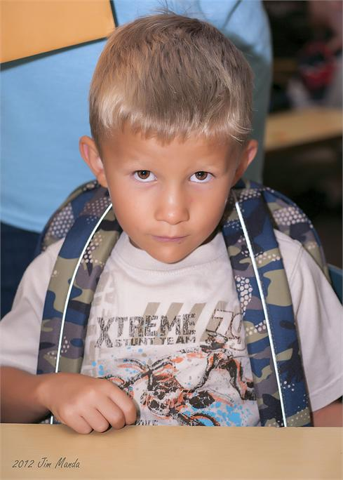 First Day of Kindergarten - August 2012
