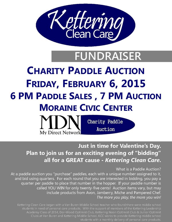 Paddle Auction to Benefit 'Kettering Clean Care ...